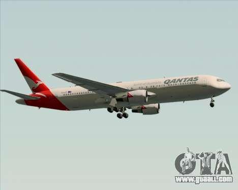 Boeing 767-300ER Qantas (New Colors) for GTA San Andreas upper view