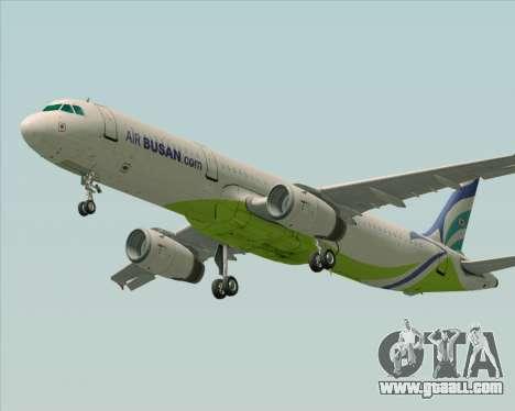 Airbus A321-200 Air Busan for GTA San Andreas back view