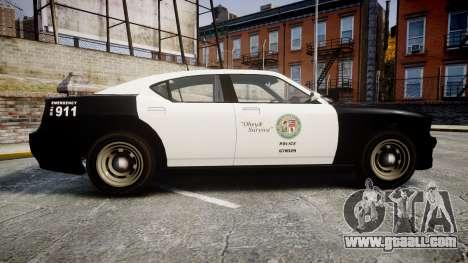 GTA V Bravado Buffalo LS Police [ELS] Slicktop for GTA 4 left view