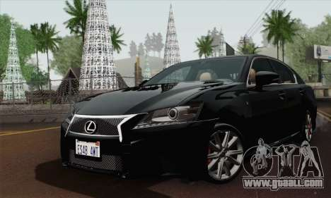 Lexus GS350 F Sport 2013 for GTA San Andreas