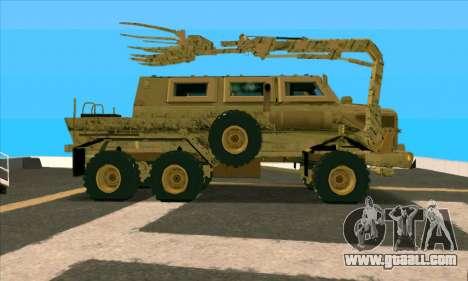 Bonecrusher Transformers 2 for GTA San Andreas left view