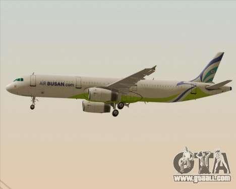 Airbus A321-200 Air Busan for GTA San Andreas wheels