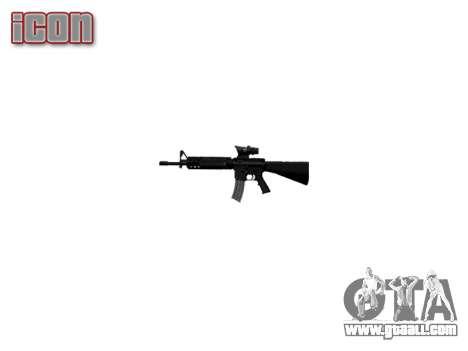 Rifle M16A4 ACOG target for GTA 4 forth screenshot
