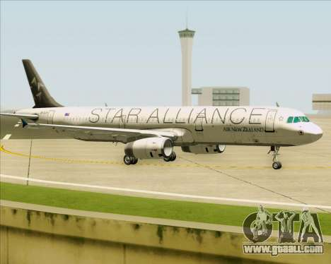 Airbus A321-200 Air New Zealand (Star Alliance) for GTA San Andreas left view