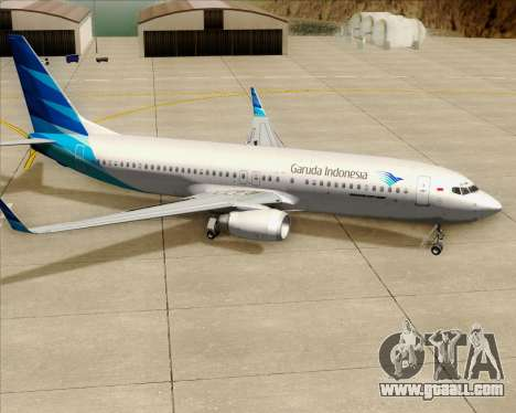Boeing 737-800 Garuda Indonesia for GTA San Andreas wheels