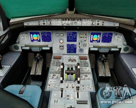 Airbus A321-200 Air New Zealand (Star Alliance) for GTA San Andreas interior