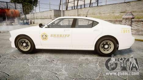 GTA V Bravado Buffalo LS Sheriff White [ELS] Sli for GTA 4 left view