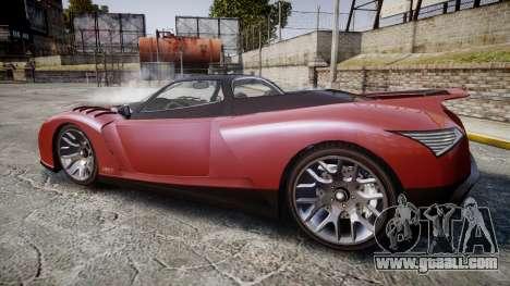 GTA V Grotti Cheetah for GTA 4 left view