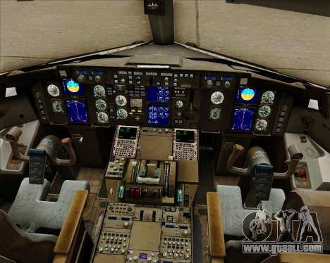Boeing 757-230 VIM Airlines (VIM) for GTA San Andreas interior
