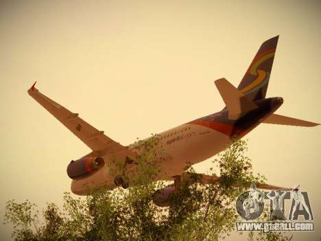 Airbus A319-132 Spirit Airlines for GTA San Andreas back view