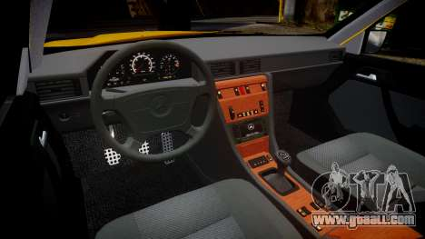 Mercedes-Benz W124 Brabus for GTA 4 inner view