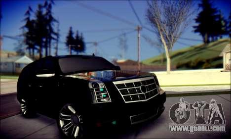 Cadillac Escalade Ninja for GTA San Andreas interior