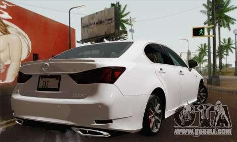 Lexus GS350 F Sport 2013 for GTA San Andreas left view