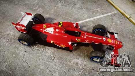 Ferrari F138 v2.0 [RIV] Massa TFW for GTA 4 right view