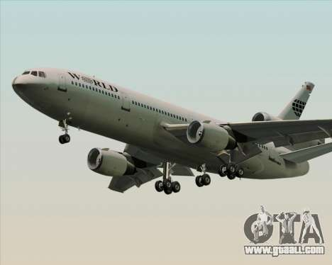 McDonnell Douglas DC-10-30 World Airways for GTA San Andreas right view
