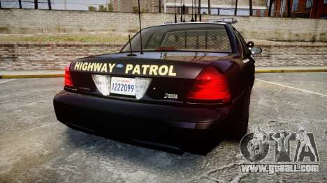 Ford Crown Victoria CHP CVPI Liberty [ELS] for GTA 4 back left view