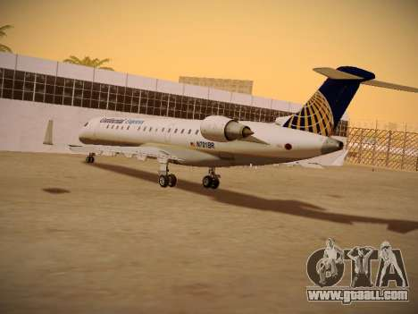 Bombardier CRJ-700 Continental Express for GTA San Andreas inner view