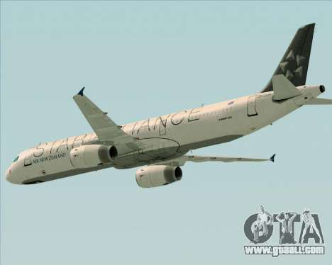 Airbus A321-200 Air New Zealand (Star Alliance) for GTA San Andreas upper view