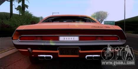Dodge Challenger 426 Hemi (JS23) 1970 (ImVehFt) for GTA San Andreas inner view
