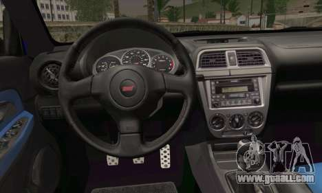 Subaru Impreza for GTA San Andreas back left view