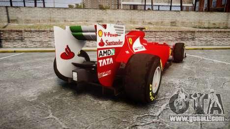 Ferrari 150 Italia Massa for GTA 4 back left view