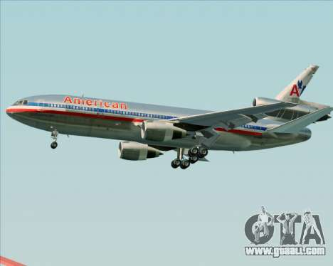 McDonnell Douglas DC-10-30 American Airlines for GTA San Andreas side view