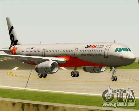 Airbus A321-200 Jetstar Airways for GTA San Andreas left view