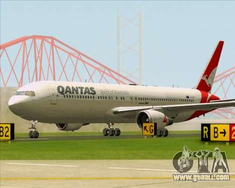 Boeing 767-300ER Qantas (New Colors) for GTA San Andreas bottom view