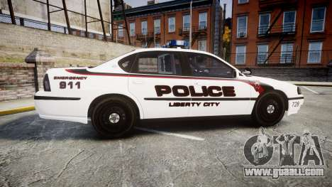 Chevrolet Impala 2003 Liberty City Police [ELS] for GTA 4 left view