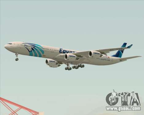 Airbus A340-600 EgyptAir for GTA San Andreas wheels
