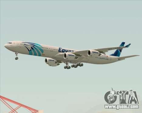 Airbus A340-600 EgyptAir for GTA San Andreas wheels