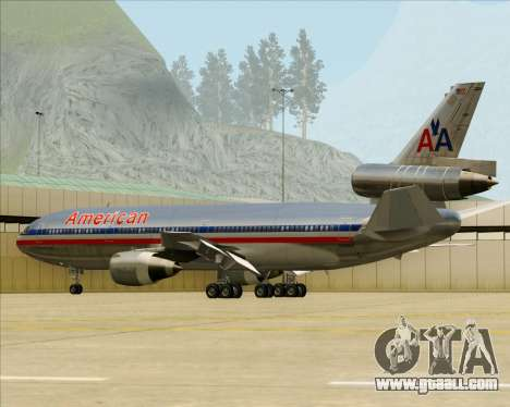 McDonnell Douglas DC-10-30 American Airlines for GTA San Andreas wheels