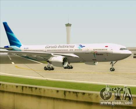 Airbus A330-243 Garuda Indonesia for GTA San Andreas back view