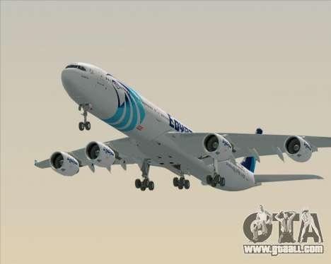 Airbus A340-600 EgyptAir for GTA San Andreas engine