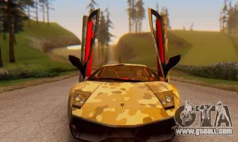 Lamborghini Murcielago Camo SV for GTA San Andreas back view