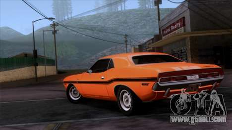 Dodge Challenger 426 Hemi (JS23) 1970 (ImVehFt) for GTA San Andreas left view