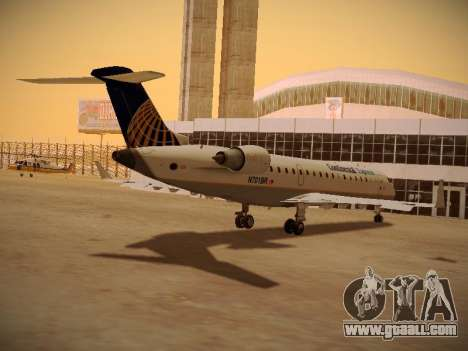 Bombardier CRJ-700 Continental Express for GTA San Andreas side view