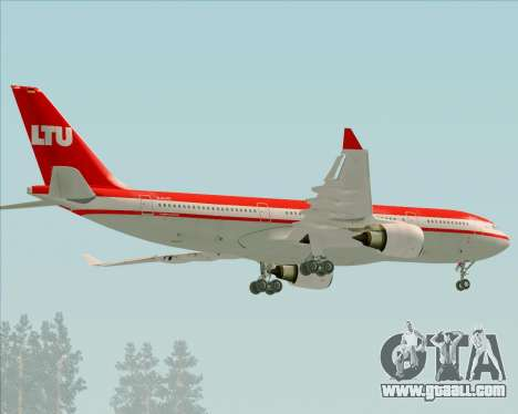 Airbus A330-200 LTU International for GTA San Andreas back view