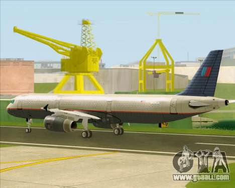 Airbus A321-200 United Airlines for GTA San Andreas back view
