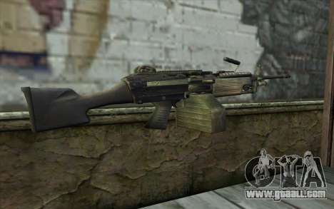 FN M249E2 SAW from SoF: Payback for GTA San Andreas second screenshot