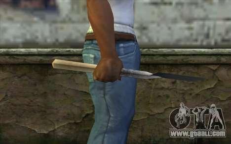 German shovel for GTA San Andreas third screenshot