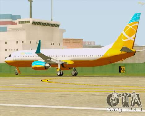 Boeing 737-800 Orbit Airlines for GTA San Andreas upper view