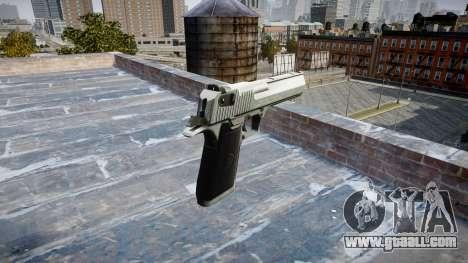 Пистолет IMI Desert Eagle Mk XIX Chrome for GTA 4 second screenshot