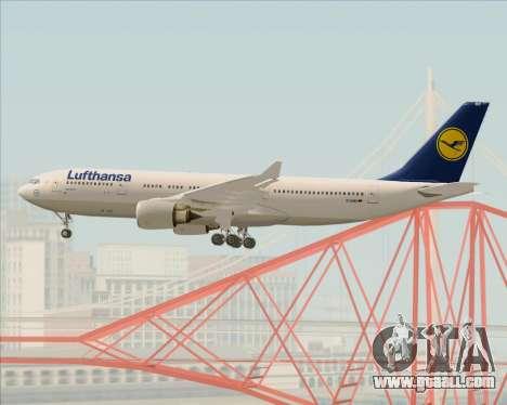 Airbus A330-200 Lufthansa for GTA San Andreas bottom view