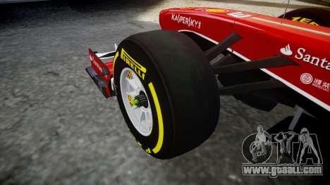 Ferrari F138 v2.0 [RIV] Alonso TSD for GTA 4 back view
