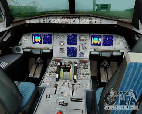 Airbus A321-200 Jetstar Airways for GTA San Andreas interior