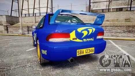 Subaru Impreza WRC 1998 Rally v3.0 Yellow for GTA 4 back left view