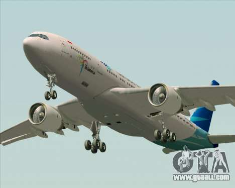 Airbus A330-243 Garuda Indonesia for GTA San Andreas upper view