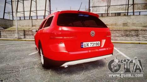 Volkswagen Passat 2014 Unmarked Police for GTA 4 back left view