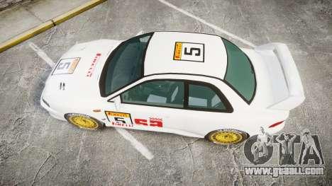 Subaru Impreza WRC 1998 SA Competio for GTA 4 right view